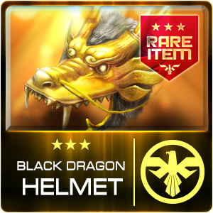 BLACK DRAGON HELMET (SRG) (Permanent)