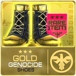 GOLD GENOCIDE BOOTS (DELTAFORCE) (Permanent)