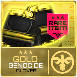 GOLD GENOCIDE GLOVES (DELTAFORCE) (Permanent)