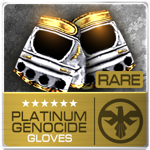 PLATINUM GENOCIDE GLOVES (SAS) (Permanent)