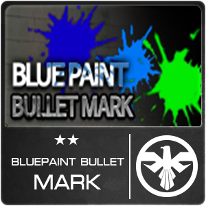 Blue Paint Bullet Mark (1 ชิ้น)