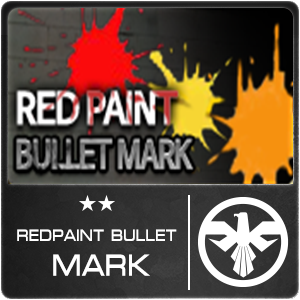 Red Paint Bullet Mark (1 ชิ้น)