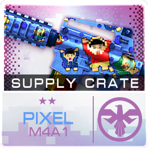 SUPPLY CRATE PIXEL M4A1 (15 ชิ้น)