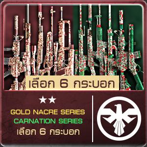 SET GOLD NACRE, CARNATION (เลือก 6 กระบอก) 500 [2020/04/30-05/06]