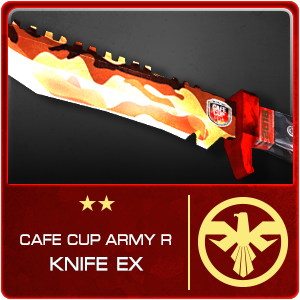 CAFE CUP ARMY KNIFE R EX (14 Days)