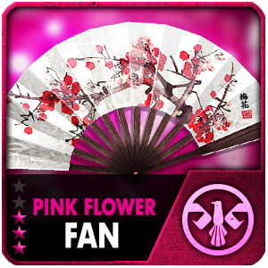 PINK FLOWER FAN (Permanent)