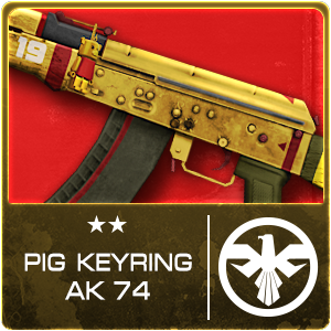 PIG KEYRING AK74 TH (Permanent)