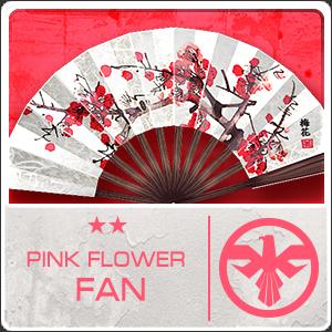 PINK FLOWER FAN (Permanent)