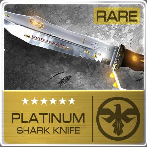 PLATINUM SHARK KNIFE (Permanent)
