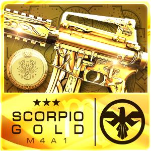 SCORPIO GOLD M4A1 (Permanent)