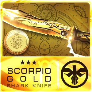 SCORPIO GOLD SHARK KNIFE (Permanent)