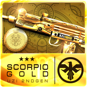 SCORPIO GOLD UZI 2ND GEN (Permanent)