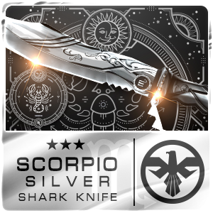 SCORPIO SILVER SHARK KNIFE (Permanent)