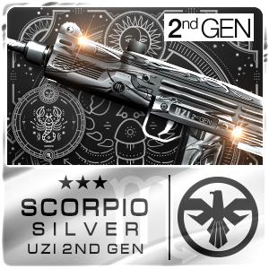 SCORPIO SILVER UZI 2nd Gen (Permanent)